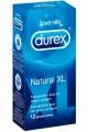 PRESERVATIVOS DUREX NATURAL XL CAJA DE 12 UNIDADES